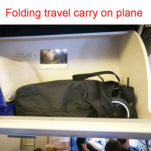 Folding travel carry on plane