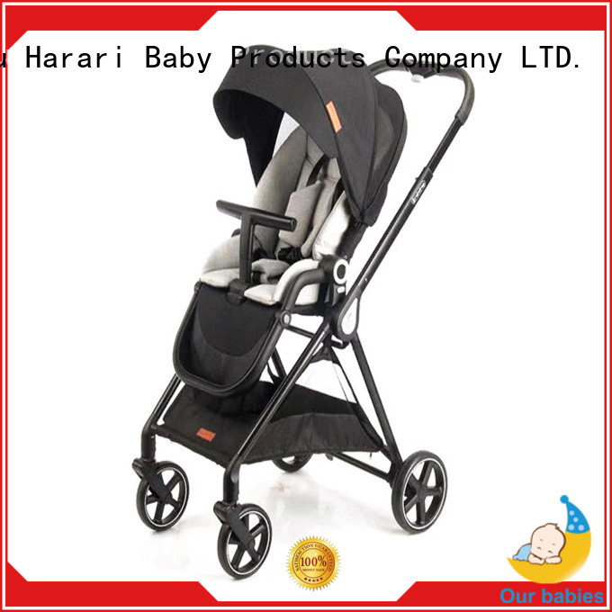 Harari Wholesale all black pram for business for toddler