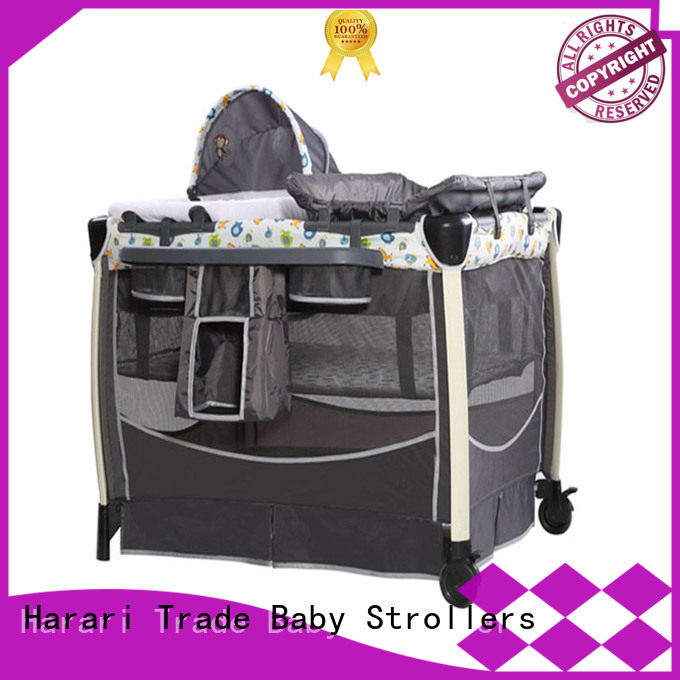 Custom portable baby playpen bed Suppliers for crawling