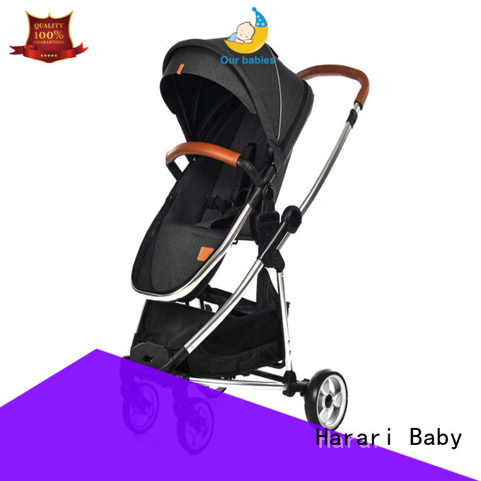 High-quality black baby pram buggy for business for family