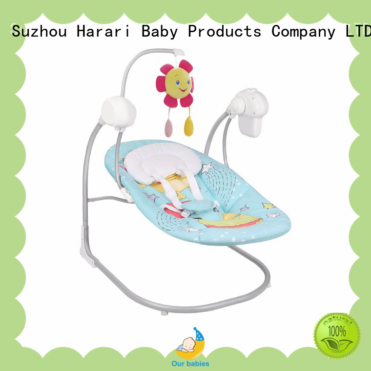 Harari folding pink baby swing chair for business