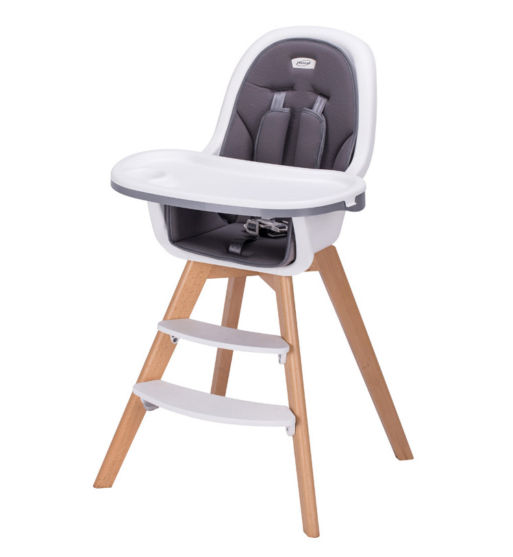 Wooden restaurant baby high chair HC-001DS