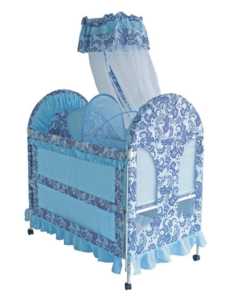 Portable steel frame baby cradle HRCC643