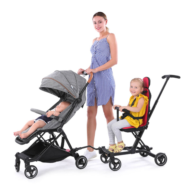 Can be connected to stroller