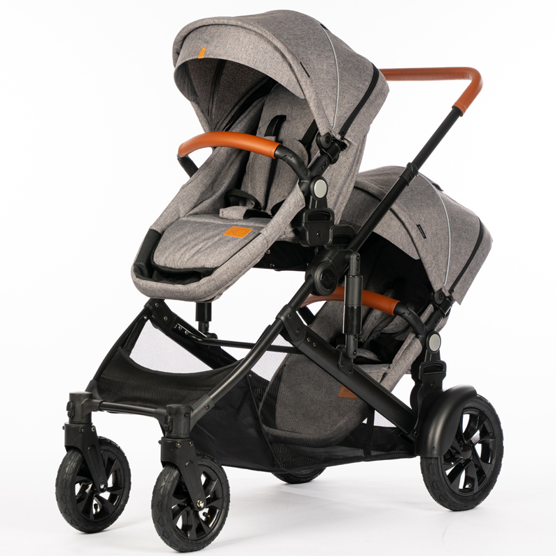 China supplier foldable twin baby stroller HBSA32T