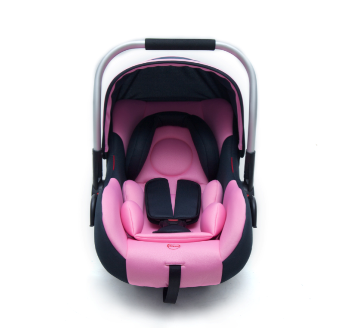 Baby car seat with aluminum handle