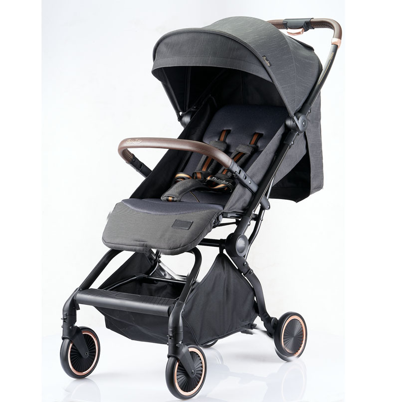 Self folding by one hand Auto folding light weight travel baby stroller