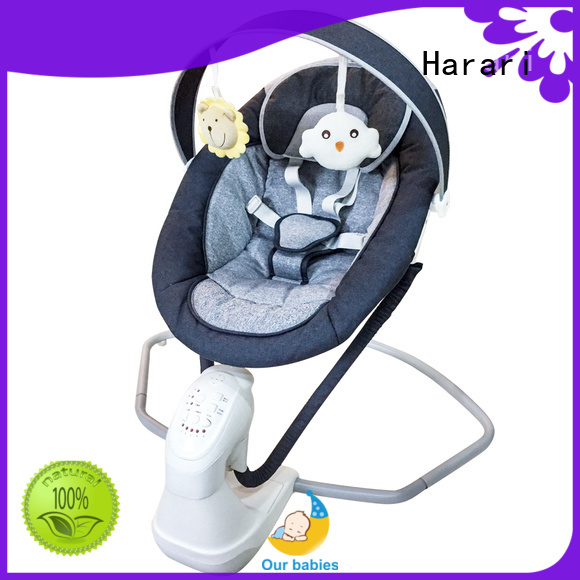 Harari electric pink and grey baby bouncer for business