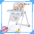 Harari 360 degree rotating wooden high chair directly sale for feeding