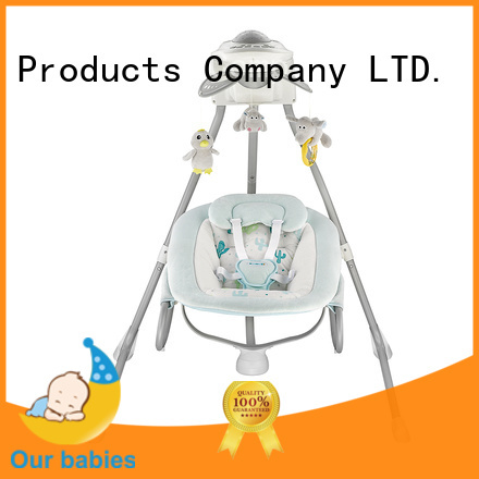 Wholesale automatic baby rocking chair adjustable company for playing