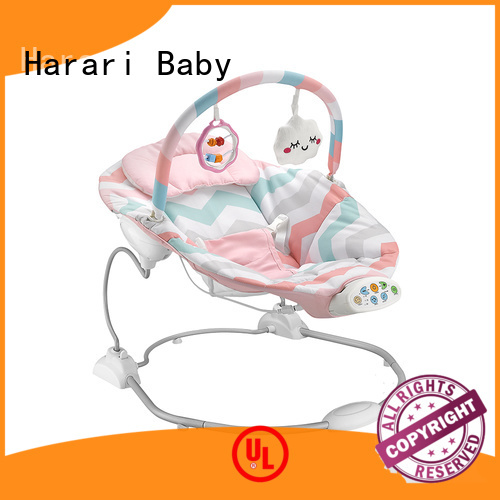 Harari Baby baby pink and grey baby bouncer company for entertainment