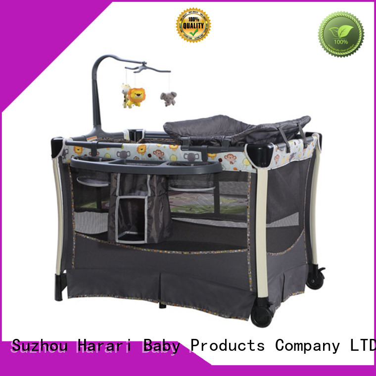 Harari folding playpen with bassinet Suppliers for crawling