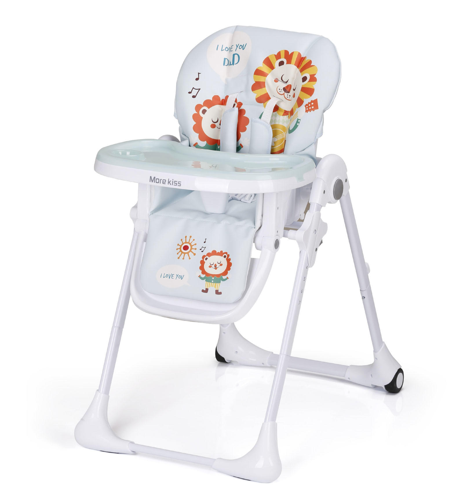 Harari 360 degree rotating wooden high chair directly sale for feeding-1