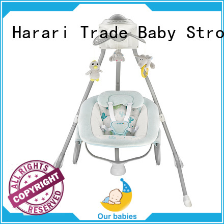 Harari Latest grey baby bouncer chair factory