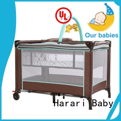 High-quality playpen with bassinet portable for business for crawling