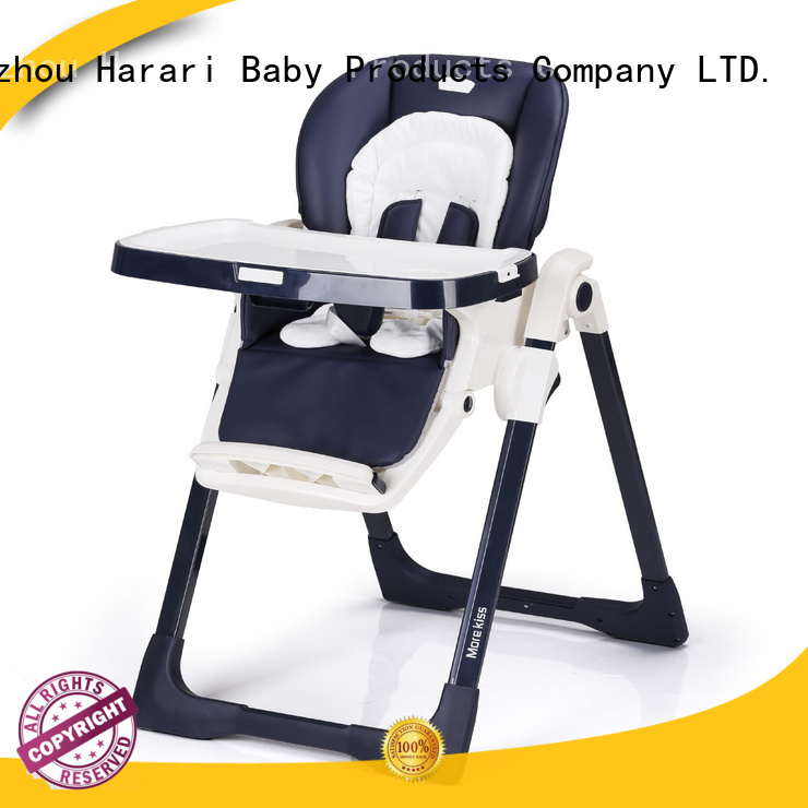 Latest white wooden baby high chair simple for business for feeding