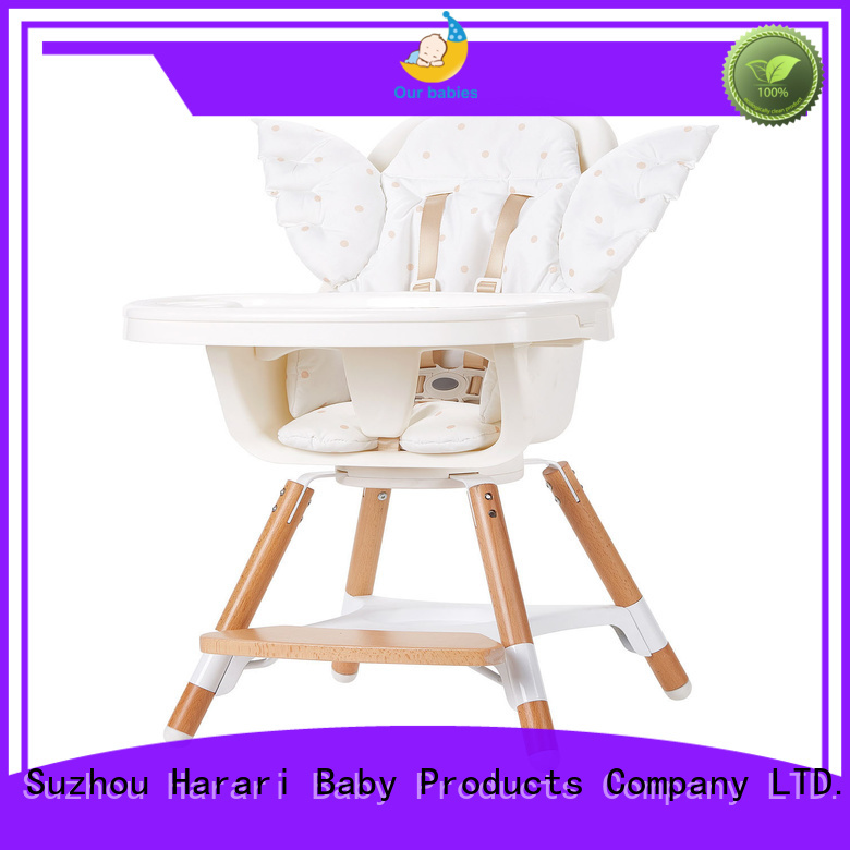 Harari Baby wooden white wooden baby high chair for business for feeding